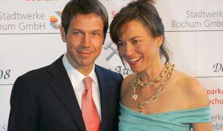 Maybrit Illner und René Obermann (Foto)