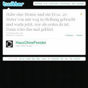 Tweet von @HausOhneFenster.