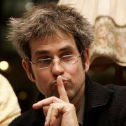 Christoph Schlingensief im Jahr 2007 bei der Talkshow Die Piloten - 10 Jahre Talk 2000.