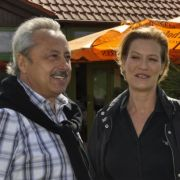 Ihnen war der Benefiz-Charakter wichtiger als eine erfolgreiche Runde Golf: Die Schauspieler Wolfgang Stumph (l.) und Suzanne von Borsody.