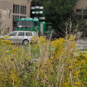 Das Landeskriminalamt suchte auf dem verlassenen Gelände nach Spuren, Munition und der Tatwaffe.