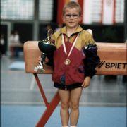 Schon früh begann Fabian Hambüchen Pokale zu sammeln.