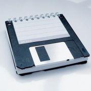 Diskette als Notizblock
