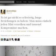 @annelinja gibt Beziehungstipps.