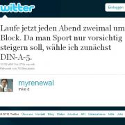 myrenewal gibt Sporttipps.