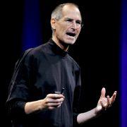 Steve Jobs bei einer Firmenpräsentation.