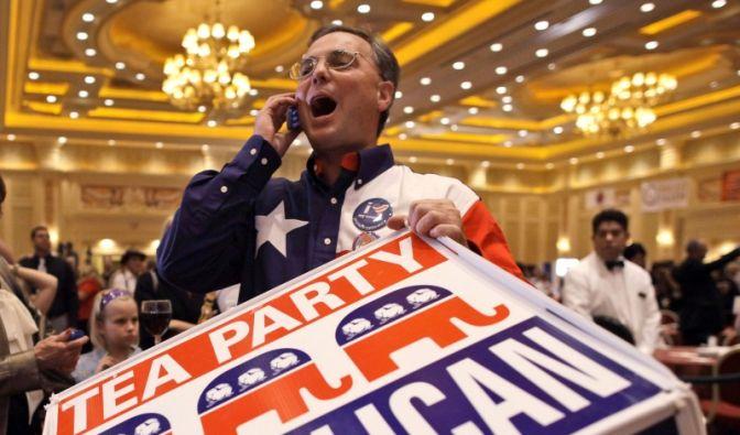 Jubelstimmung bei den Republikanern: Prognosen zufolge gewinnen sie 50 bis 60 Sitze im Repräsentantenhaus und haben damit die Mehrheit. Das ist eine ...