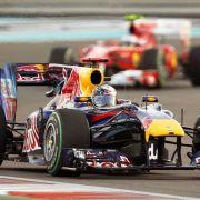 Vettel im Rennen von Abu Dhabi.