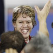 Vettel feiert den WM-Titel.