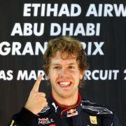 Siegerfinger: Sebstian Vettel.