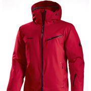 Mammut hat mit dieser tiefroten Jacke einen farbenfrohen Wärmespender für männliche Skihasen im Angebot.