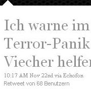 HausOhneFenster weiß, was bei Terror-Panik tunlichst zu vermeiden ist.