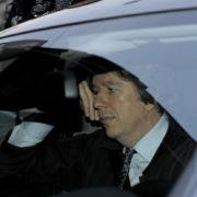 Jörg Kachelmann auf dem Weg in die Tiefgarage des Mannheimer Landgerichts.