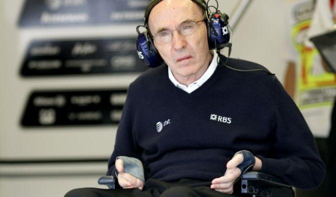 Frank Williams ist nach einem Autounfall 1986 permanent auf den Rollstuhl angewiesen.