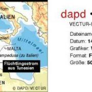 Die italienische Insel Lampedusa liegt auf halbem Weg zwischen Tunesien und Sizilien.