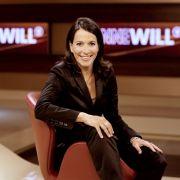 Anne Will wie wir sie kennen: Als souveräne und kompetente Journalistin führt in ihrer Talkshow durch politisch aktuelle Themen.