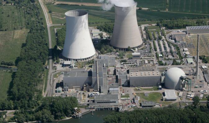 Das Kernkraftwerk Philippsburg bei Karlsruhe.