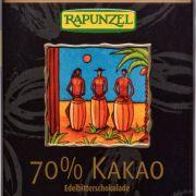 Edelbitterschokolade 70 % Kakao von Rapunzel