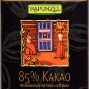 Bitterschokolade 85 % Kakao von Rapunzel