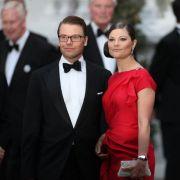 Prinzessin Victoria und Prinz Daniel vertreten Schweden.