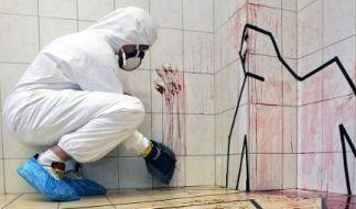 Tatorteinigung ist ein blutiges Geschäft. In einem extra präparierten Tatort bildet eine Berliner Firma die speziellen Putzmänner aus. (Foto)