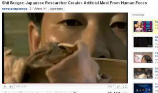 Der Forscher und seine Erfindung. (Foto)