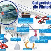Neben den richtigen Reifen gibt es in der kalten Jahreszeit einiges mehr zu beachten. News.de hat zusammengestellt, was jetzt in Ihr Autos muss, damit Sie bestens gerüstet sind für Eis und Schnee.