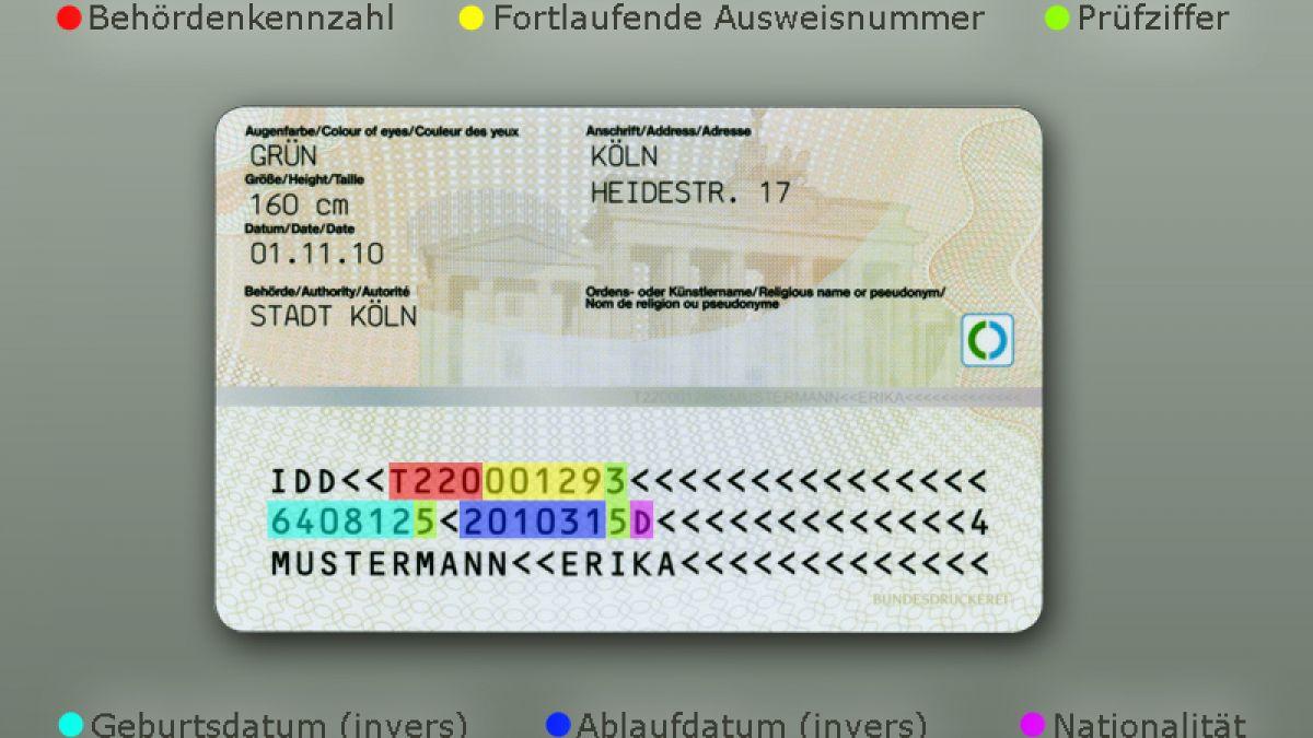 Prüfziffer neuer personalausweis Die Ausweisnummer