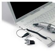 Mit Saugkraft gegen den Dreck: Der USB-Staubsauger macht Staub und Krümeln in Tastaturen den Garaus.