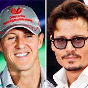 Michael Schumacher, Johnny Depp und Boris Becker