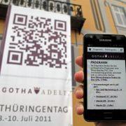Um die Orientierung im Trubel des Thüringentages zu erleichtern, setzten die Veranstalter auf moderne Technik: QR-Codes.