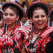 Im bolivianischen Oruru findet einer der größten Karnevalsumzüge Südamerikas statt.