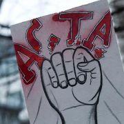 Dieser Schnappschuß stammt von der Anti-Acta-Demo in Hamburg.