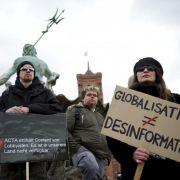 Auch zum zweiten Protesttag gegen Acta versammelten sich wieder zahlreiche Demonstranten in ganz Europa. Dieses Bild stammt von der Anti-Acta-Demo in Berlin.