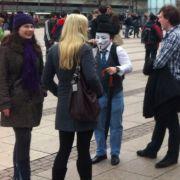 Auffallend viele Schüler engagieren sich, wie hier in Leipzig, gegen Acta.