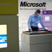 Microsoft auf der Cebit 2012.