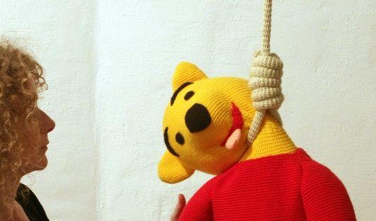 Puh der Bär erhängt (Foto)