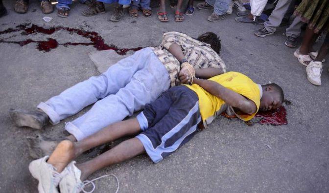 Zwei junge Plünderer wurden auf Haiti einfach erschossen.