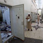 Ein Gaddafi-Knast in Libyen. Nach dem Ende der Diktatur hat Amnesty International die neue Führung des Landes aufgefordert, die Haftbedingungen zu verbesssern.