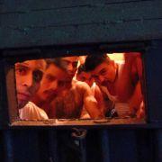 Gangmitglieder in einem Knast in Guatemala.