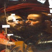 Judas-Kuss: (hier in einer Interpretation von Michelangelo Caravaggio) Der Jünger Judas Ischariot gab Jesus einen Kuss und verriet ihn mit diesem vorher vereinbarten Erkennungszeichen an die römischen Soldaten.