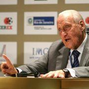 Der Vorgänger von Sepp Blatter, der Brasilianer Joao Havelange.