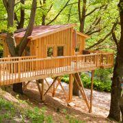 Im Wipfelglück Mönchberg im Spessart gibt es sogar ein barrierefreies Baumhaus für Rollstuhlfahrer.