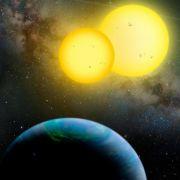 Zwei Sonnen für einen Planeten.