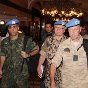 14. April 2012: Die UN schicken nach einem Beschluss des Sicherheitsrats Militärbeobachter zur Überwachung der Waffenruhe nach Syrien.