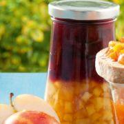 Apfel-Pflaumen-Schichtkonfitüre