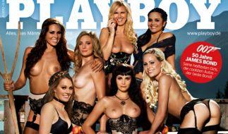 So aufreizend präsentiert sich die Novemberausgabe des Playboy-Magazins. (Foto)