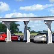 Die besten Bilder zu Tesla Supercharger: Die Wundersäule