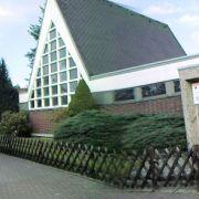 Die ehemalige Kirche in Herzberg liegt mitten in einem Wohngebiet.