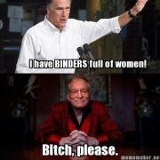 Hugh Hefner macht sich über Mitt Romney lustig.